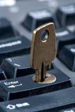 输入锁着 免版税库存图片