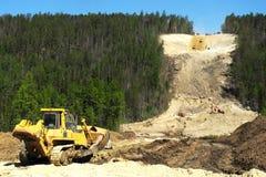 输油管建造场所  免版税库存图片