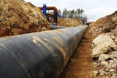 输油管建造场所  免版税图库摄影