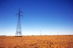 输电线在澳大利亚 库存照片