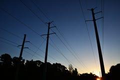 输电线,高压 传输塔 库存照片
