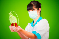 输血人服务 免版税库存照片