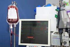 输血,重要标志显示器  库存照片