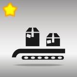 输送机系统箱子例证 库存图片