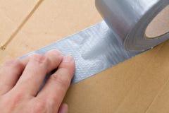 输送管灰色磁带 免版税图库摄影
