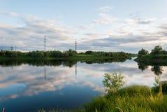 输送管Langepas鄂毕河的附庸国 库存图片