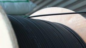 辗压缆绳导线光纤 影视素材