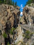 辛克莱峡谷在库特尼国家公园 免版税库存照片