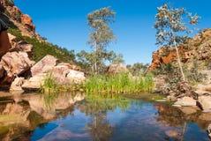 辛普森空白,麦克唐奈范围,澳大利亚 免版税库存照片