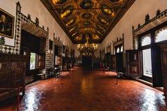 辛特拉全国宫殿内部 图库摄影