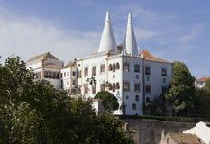 辛特拉全国宫殿概要 免版税库存图片