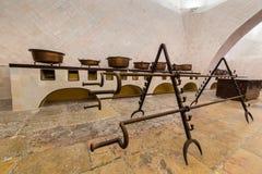 辛特拉全国宫殿的厨房  库存照片
