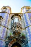 辛特拉全国宫殿Trinton窗口,旅行里斯本,葡萄牙 库存图片