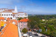 辛特拉宫殿  镇宫殿,葡萄牙 免版税库存照片