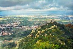 辛特拉,上面的看法,葡萄牙 库存图片