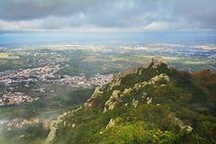 辛特拉,从上面看法,葡萄牙 免版税库存图片