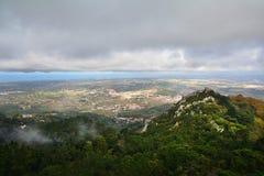 辛特拉,从上面看法,葡萄牙 免版税库存照片