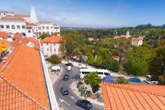 辛特拉,葡萄牙宫殿  免版税库存图片