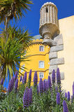 辛特拉,葡萄牙的自治市的贝纳宫殿 免版税库存照片