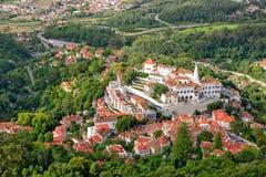 辛特拉,葡萄牙老镇 库存照片