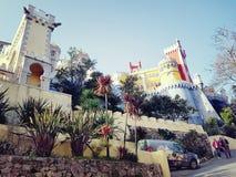 辛特拉 全国贝纳宫殿 免版税库存照片
