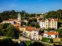辛特拉-葡萄牙的最浪漫的村庄 免版税库存图片