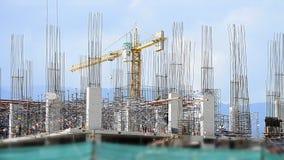 辛苦工作在大建造场所 影视素材