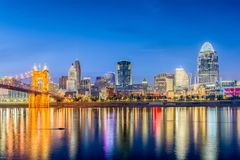 辛辛那提,俄亥俄,美国地平线 免版税图库摄影