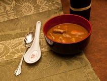 辣冷咖喱的晚上 免版税库存照片