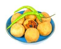 辣印第安食物 库存图片