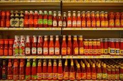 辣味番茄酱和果酱 免版税库存图片