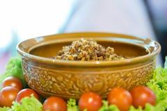 辣味番茄酱泰国食物和traidition 库存图片