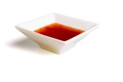 辣味番茄酱甜点 免版税库存图片