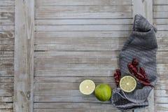 辣和柠檬酸 图库摄影