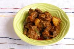 辣咖喱民族风味的食品印第安的羊羔 库存照片