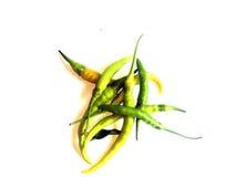 辣椒和白色背景 免版税图库摄影