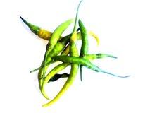 辣椒和白色背景 库存图片