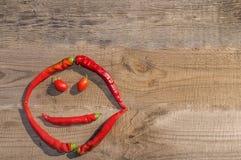 辣椒和蕃茄 免版税库存图片