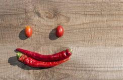 辣椒和蕃茄 库存照片