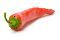 辣椒查出的胡椒红色 免版税库存图片