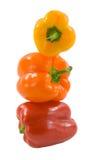 辣椒的果实塔 免版税库存图片