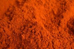 辣椒粉或红色辣椒粉 库存图片