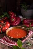辣椒粉Tomaten -汤 库存图片