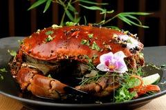 辣椒酱螃蟹 图库摄影