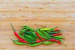 辣椒绿色红色 库存图片