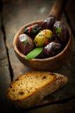 辣橄榄色的开胃菜 免版税库存图片
