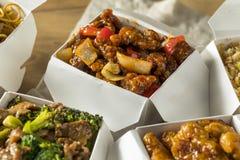 辣汉语去掉食物 免版税库存照片