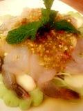 辣沙拉的虾 图库摄影