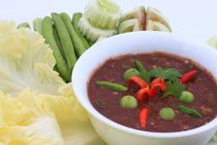 辣泰国的食物 免版税库存照片