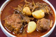辣泰国食物混杂的草本 免版税库存照片